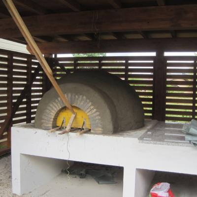 Construction du four à pain